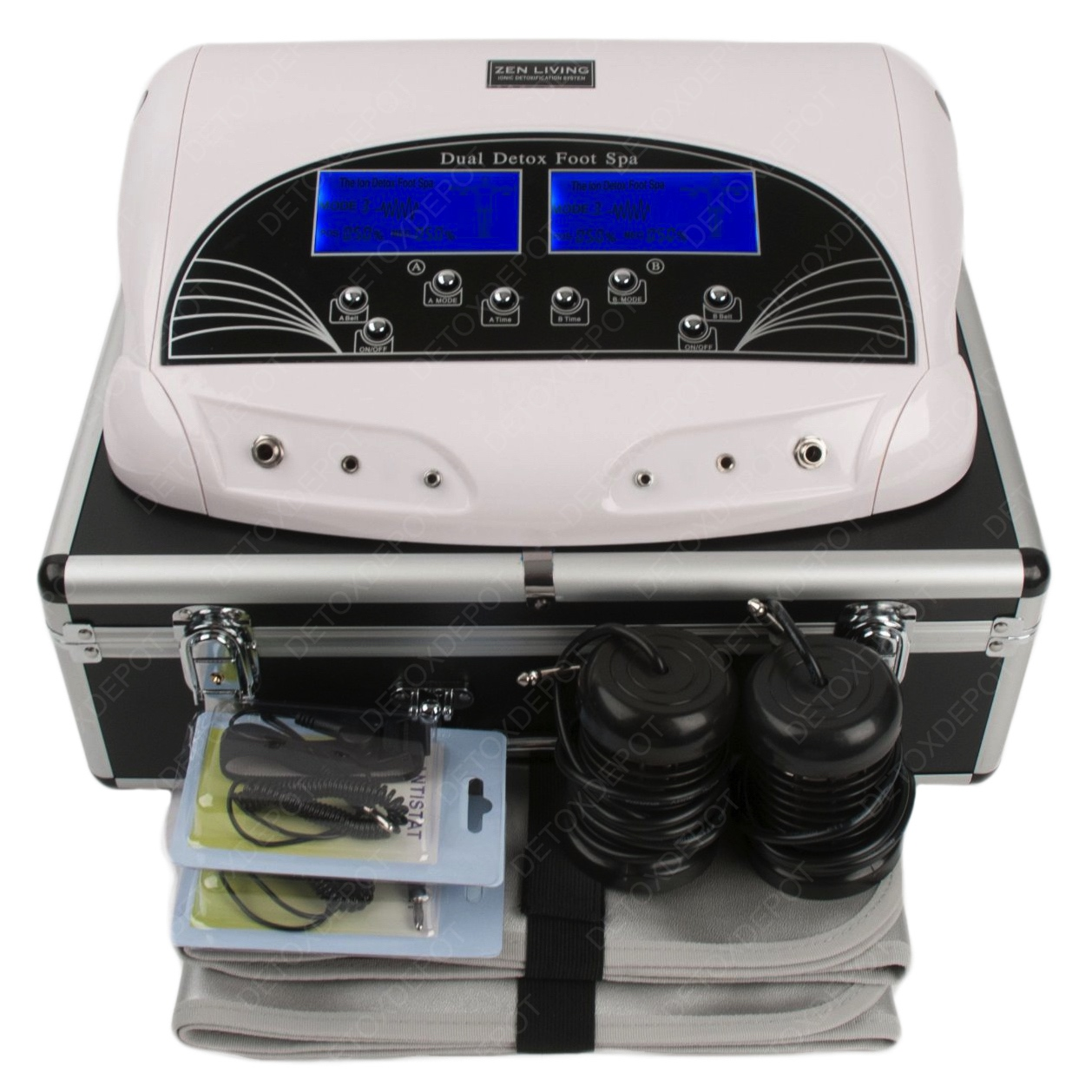 Professional dual lcd ionic detox foot bath spa machine with what makes this detox depot ionic foot bath better than all the others nvjuhfo Choice Image